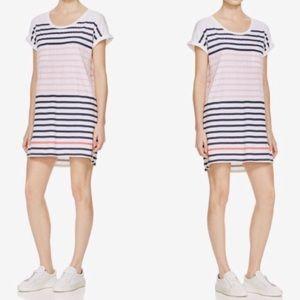 Anthro Sundry Pink Striped Shirt Dress 3